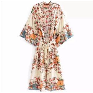 Sea The Sun Vintage Kimono Duster